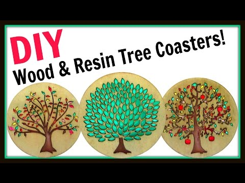 Wood and Resin Tree Coasters | DIY Project | Another Coaster Friday | Craft Klatch | How To