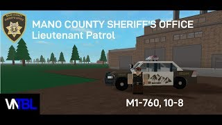 Roblox Mano County Sheriff's Office - Lieutenant Patrol ! (also shots fired halp)