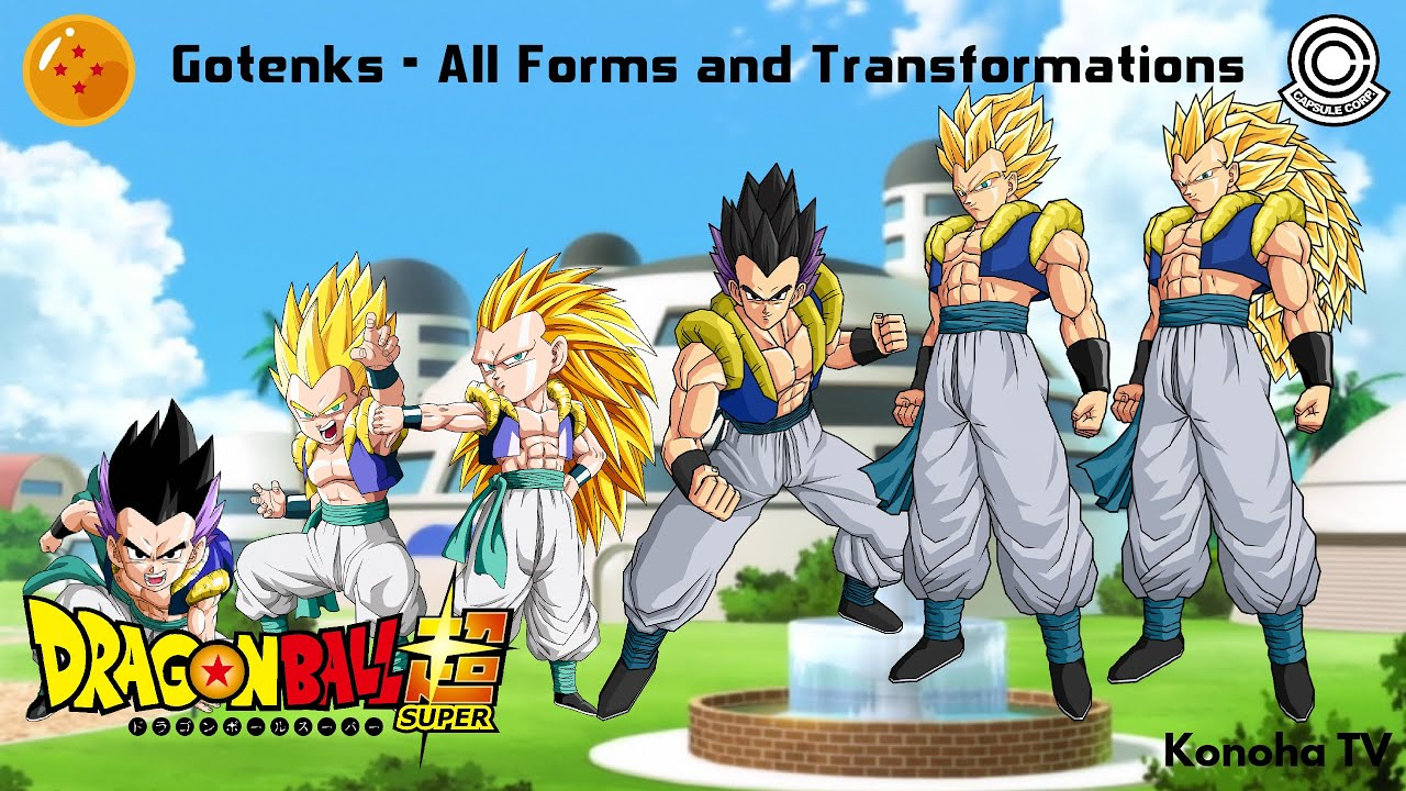 gotenks all forms and transformations dragon ball z dragon ball