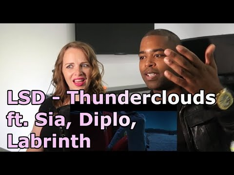 LSD - Thunderclouds (Official Video) ft. Sia, Diplo, Labrinth (REACTION 🎵)