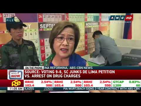 SC votes to keep De Lima in jail: source