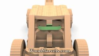 Mangonel B Siege Weapon CNC: 3D Assembly Animation (1080HD)