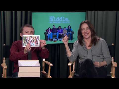 Patricia Heaton and Atticus Shaffer Go Through Middle Memories  The Middle
