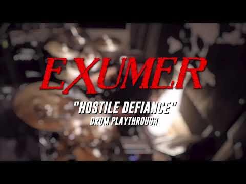 Exumer - Hostile Defiance (Drum Playthrough)