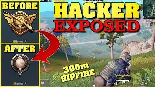 Hacker EXPOSED from ACE to BRONZE V | PUBG Mobile
