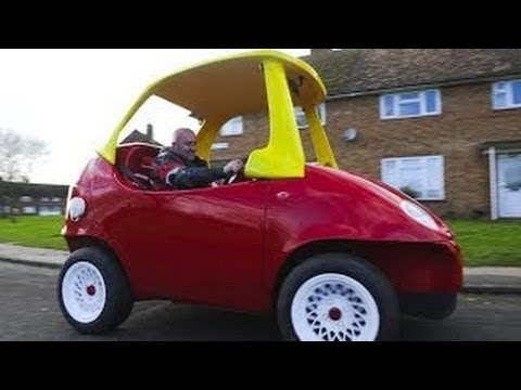 adult sized little tikes toy car takes the road guy