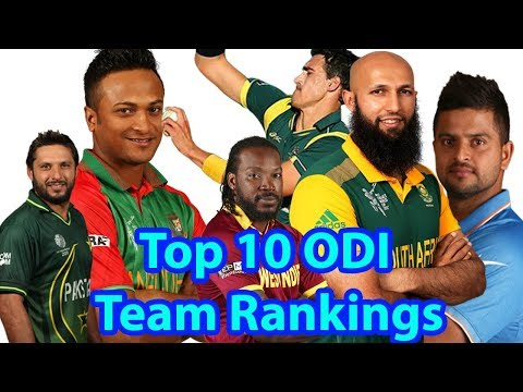 Top 10 ODI Team Rankings 2018||Top 10 ODI Cricket Teams with ICC Ranking 2018