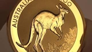 Close-up look at the 2017 Australian Kangaroo Gold Bullion Coin