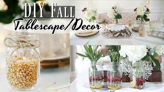 How To Put Together A Holiday & Budget Friendly Tablescape - iHeartFall ep 11- MissLizHeart