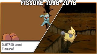 Evolution of Fissure - Pokémon Moves (1996-2018)