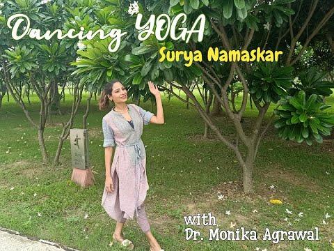 dancing yoga surya namaskar  youtube