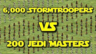 ◀ Star Wars: Galactic Battlegrounds - 6000 Stormtroopers vs 200 Jedi Masters