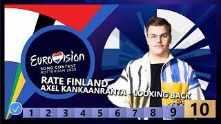 🇫🇮RATE FINLAND - Aksel Kankaanranta - Looking Back - Finland Eurovision 2020
