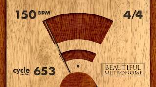 150 BPM 4/4 Wood Metronome HD