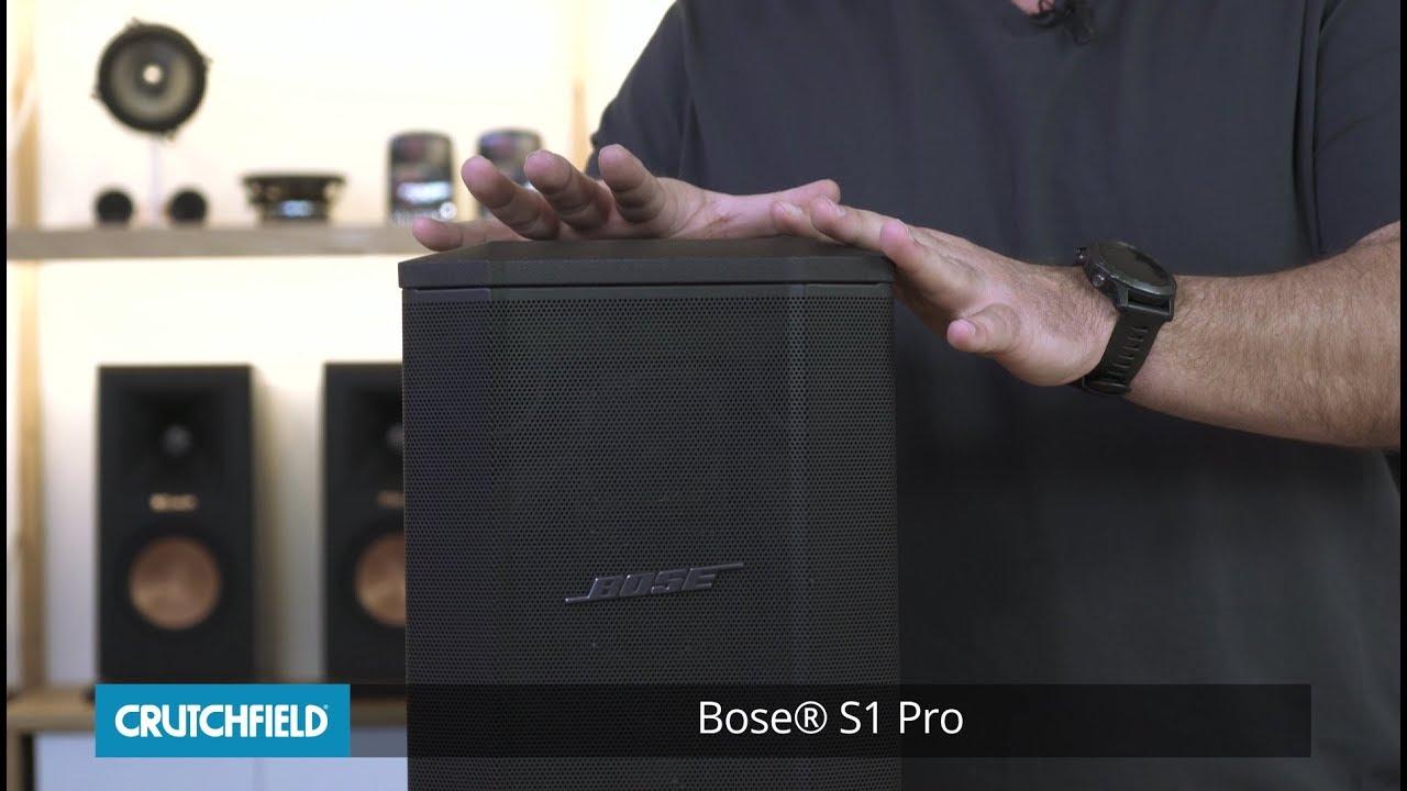 Bose S1 Pro portable PA system | Crutchfield video
