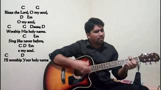 Bless the lord O39 my soul 10000 reasons of Matt Redman Worship song Guitar Tutorial~
