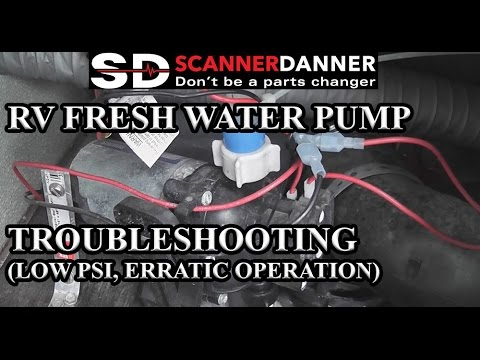 RV Fresh Water Pump Troubleshooting (low psi, erratic operation)