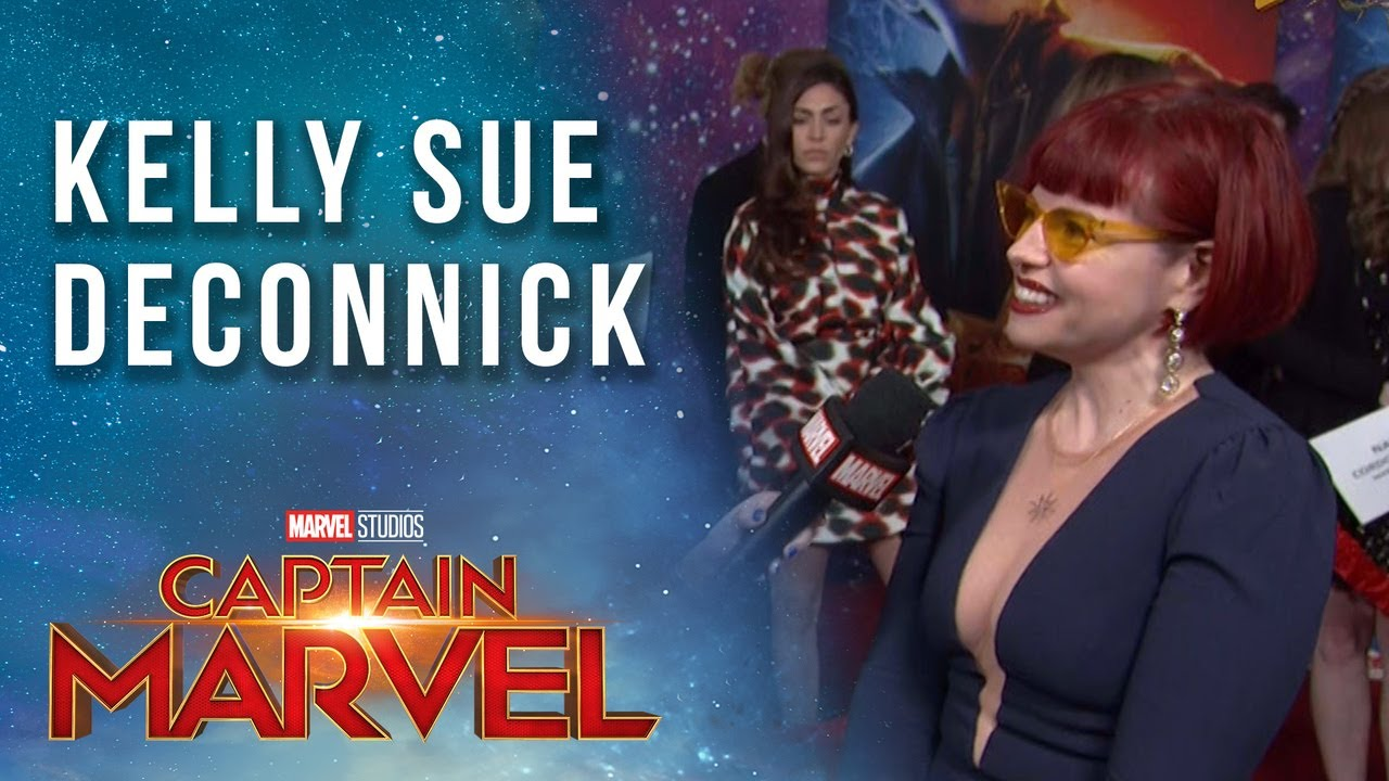 Captain Marvel comic book writer Kelly Sue DeConnick at the Red Carpet Premiere!