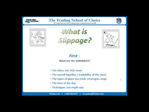 Option trading slippage