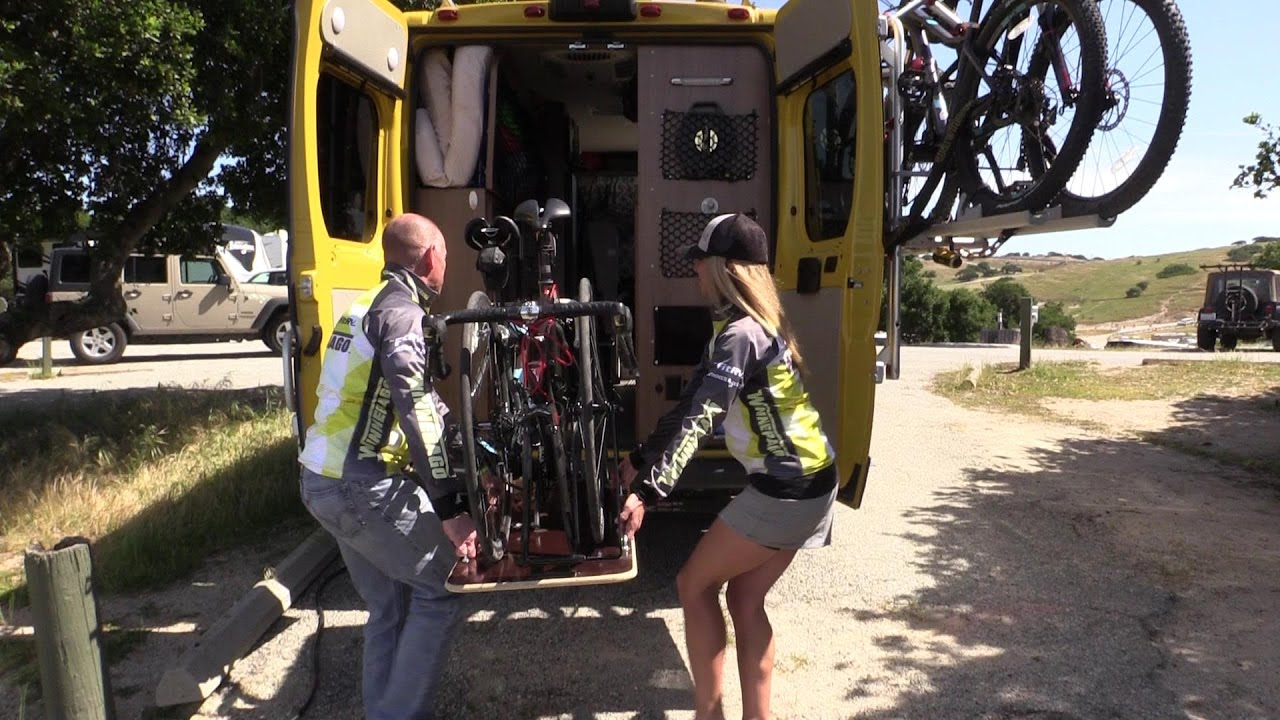 How to Carry Bikes Inside Your RV - the Bike Gurney!
