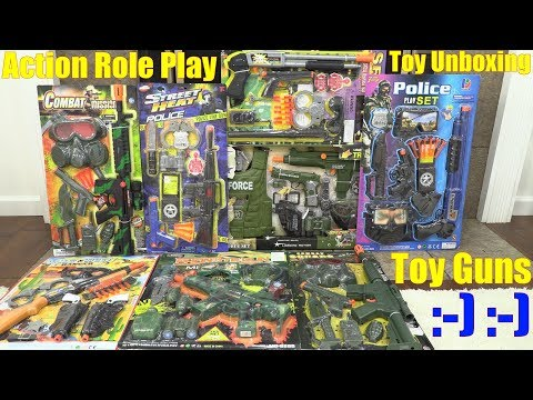 Kids' Toy Channel: Action Role Play Toy Guns. Safe Toy Guns for Kids. Toy Gun Review and Playtime