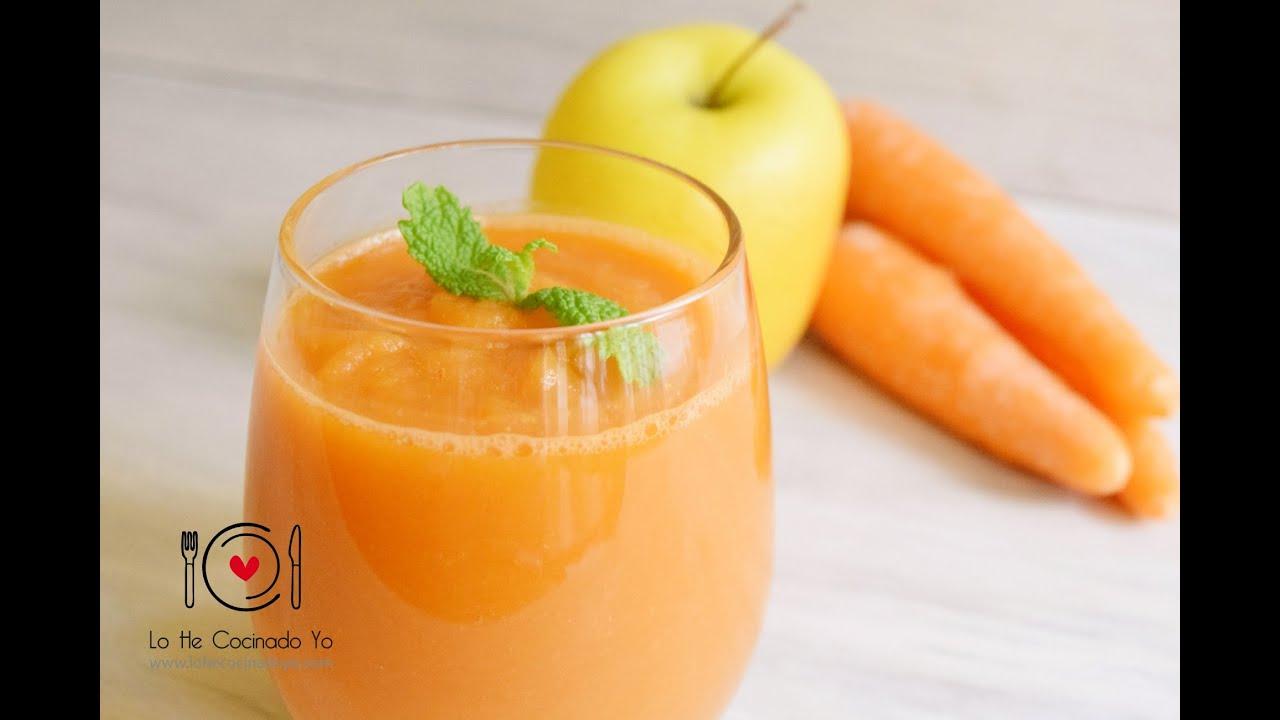 Receta De Smoothie De Zanahoria Y Manzana Lhcy Youtube Zumo de zanahoria, manzana y apio. receta de smoothie de zanahoria y manzana lhcy
