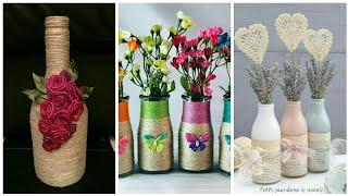 Jute crafts decoration Ideas /Bottles Recycle