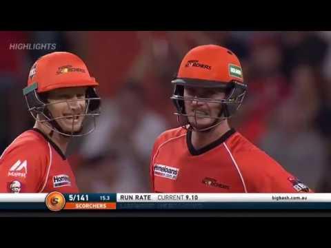 BBL 2016 17 Match 5 Perth Scorchers v Adelaide Strikers Full Highlights