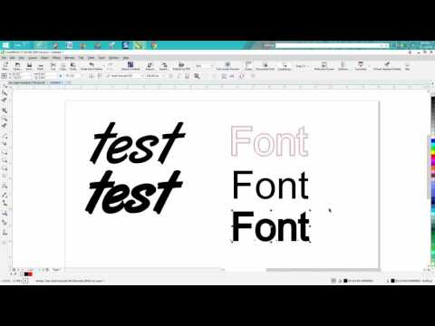 Corel Draw Tips & Tricks how to make a font bold the easy way