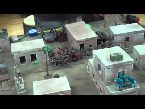 Orks vs Eldar 03 Grudge Match 40K Battle Report- Blue Table Painting
