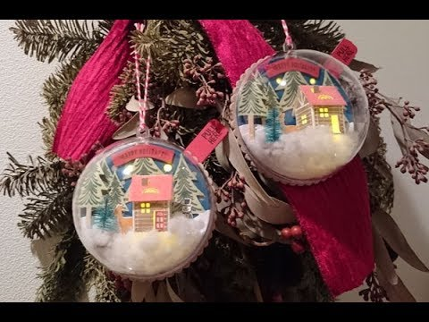 How to make Light Up Snow Globe Tags