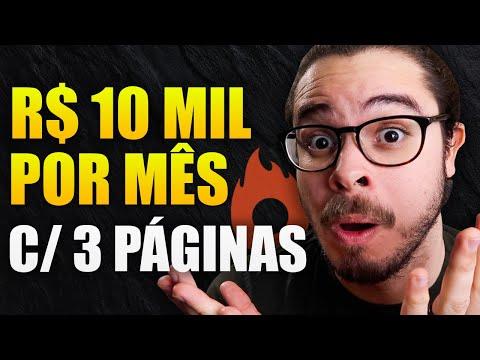 Afiliado: Sequência de 3 Páginas que me gera R$ 10 mil por mês na Hotmart (Mostrei tudo)
