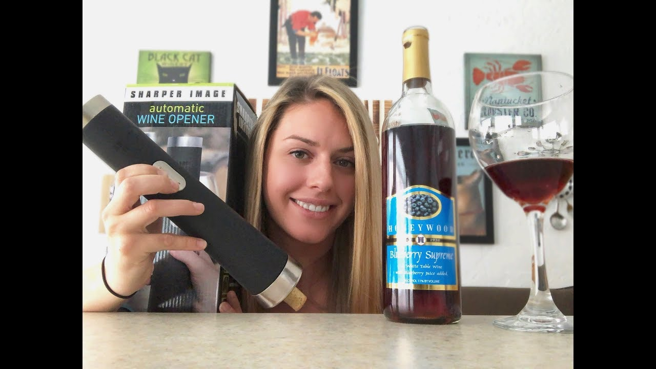 Sharper Image Automatic Wine Opener A Closer Look Youtube