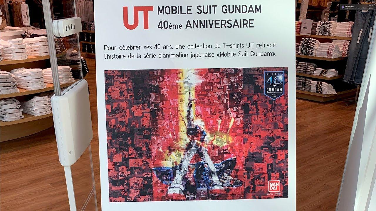e35849520 Uniqlo UT'19 x Gundam 40th Anniversary Graphic T-Shirts【4K】 - YouTube