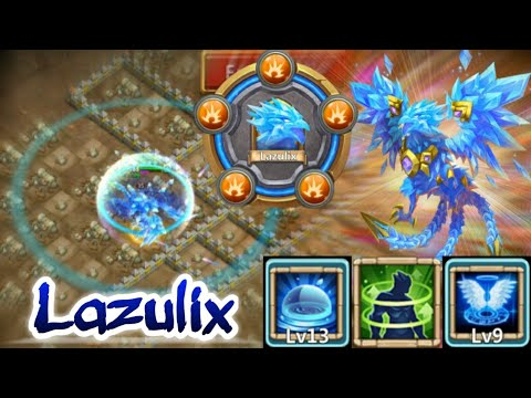 Lazulix | 13/13 Skill In Action | 9/9 Revive With 8 Revite | 5/5 Holy Conviction | Castle Clash