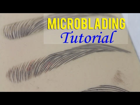 Microblading Eyebrows   Microblading Tutorial on How to Secure Your Template