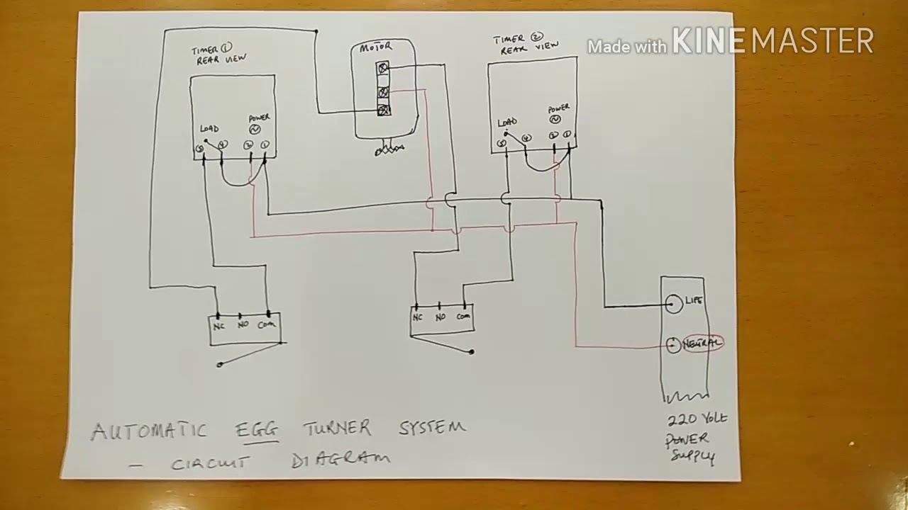 Incubator Automatic Turning System Circuit Diagram