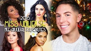MISS UNIVERSE 2016: PRE-ARRIVAL FAVORITES | Anthony M Gomes