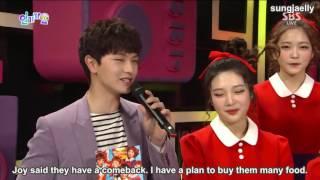 150913 Inkigayo   MC Sungjae & Red Velvet Interview