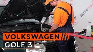Montering af Oliefilter VW GOLF III (1H1): gratis video