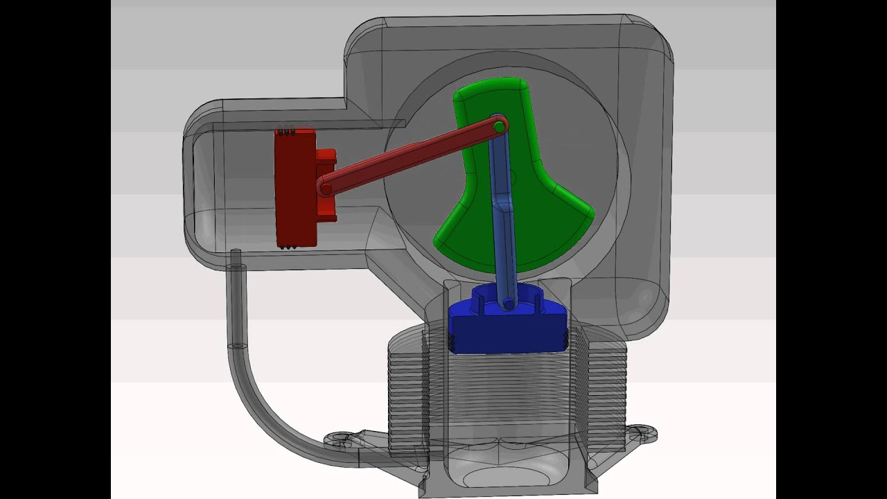 Solidworks Alpha Type Stirling Engine Youtube
