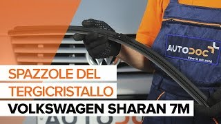 Come sostituire Tergicristalli anteriori su VW SHARAN 7M [TUTORIAL]