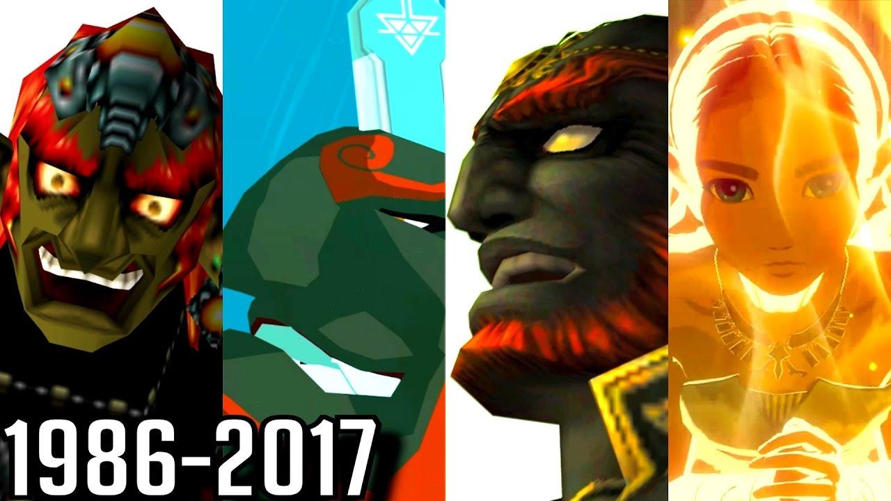 Evolution Of Ganon Deaths In Zelda Games 1986 2017
