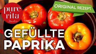 🌶 Gefüllte Paprika mit Hackfleisch und Reis im Backofen (Rezept)