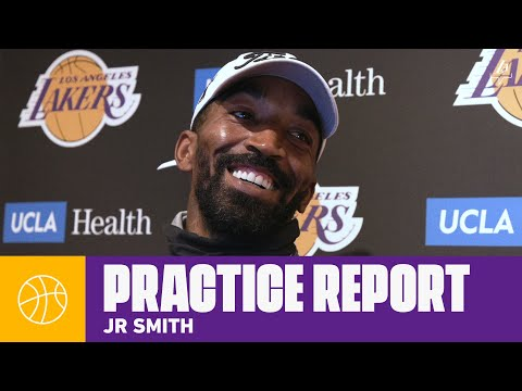 JR Smith compares LeBron's leadership styles from Cleveland to now   Lakers Practice