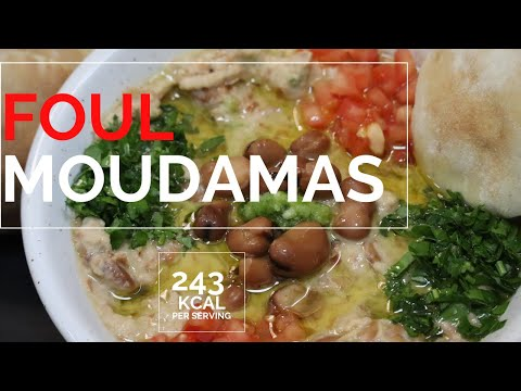 Foul moudamas with tahini فول مدمس Foul beans dip