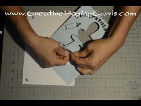 Baby Shower Pop Up Card Pacifier Tutorial