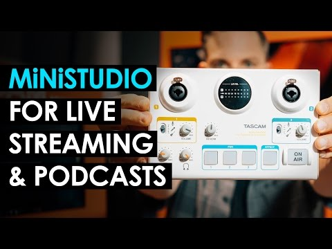 Tascam MiNiSTUDIO Review — Audio Interface for Live Streaming and Podcasting