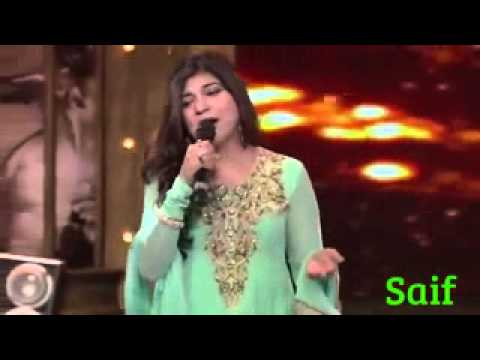 Mirchi Music Award 2014   Alka Yagnik tribute to SRK