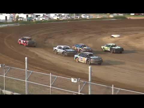 IMCA Stock Car Heat 1 Independence Motor Speedway 8/18/18